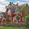 Norwegian house with traditional details