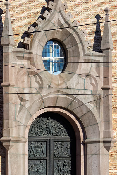 Oslo Cathedral entrance, formerly Our Savior's Church, built 1694-97