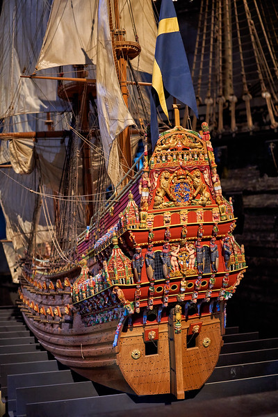 Reconstruction of the original stern of the sunken Vasa - Vasa Museum