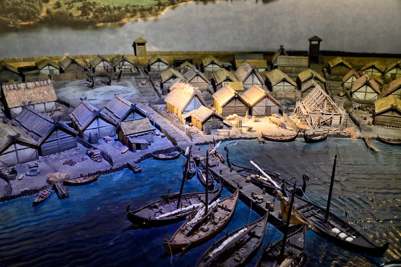 Model of Viking settlement on what is now Stockholm, circa 1000 A.D.