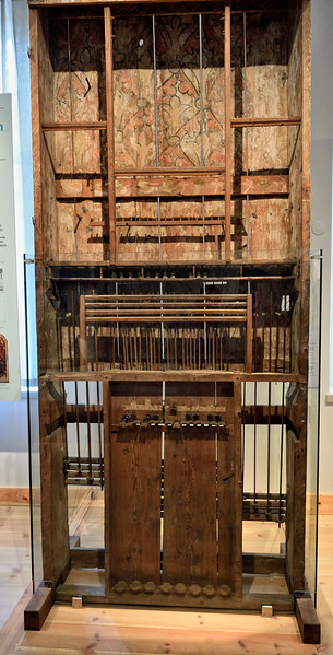 Norrlanda handbuilt pipe organ, dating prior to the 1430's