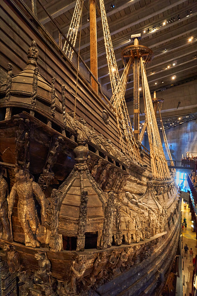 Remains of the original stern of the sunken Vasa - Vasa Museum