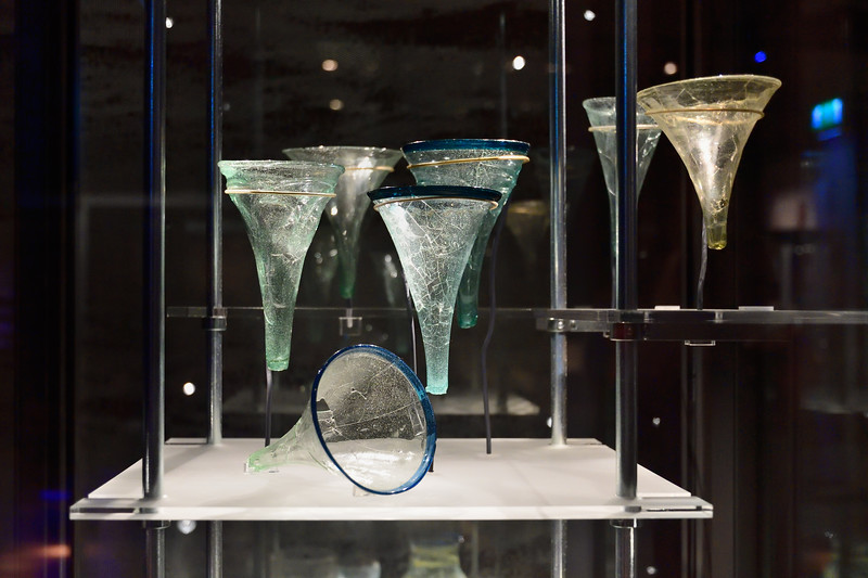 Viking glass beakers dating to around 1000 A.D.