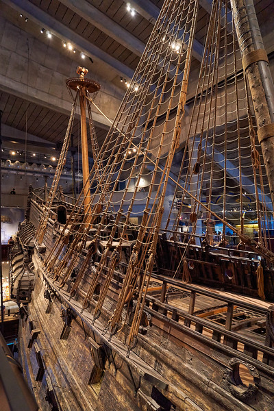 Remains of the restored superstructure of the sunken Vasa - Vasa Museum