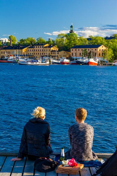 Sweden-Stockholm harbor