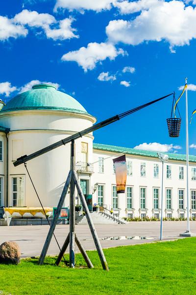 SWEDEN-STOCKHOLM-Sjöhistoriska museet-MARITIME MUSEUM-REPLICA OF ORIGINAL LIGHTHOUSE FIIRE BASKETS