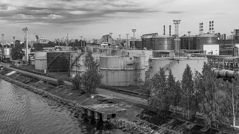 Russia-Saint Petersburg-Petroleum terminal