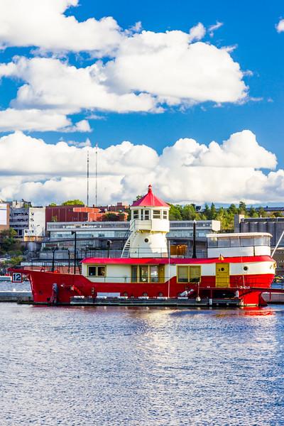 SWEDEN-STOCKHOLM-DJURGARDEN-BISKOPSUDDEN LIGHTSHIP-FORMERLY Oskarsgrundet LIGHTSHIP