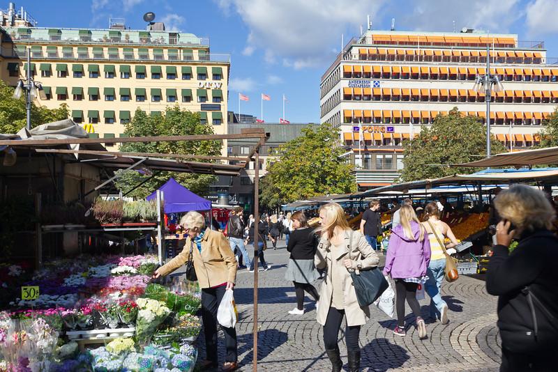 SWEDEN-STOCKHOLM-OUTDOOR MARKET