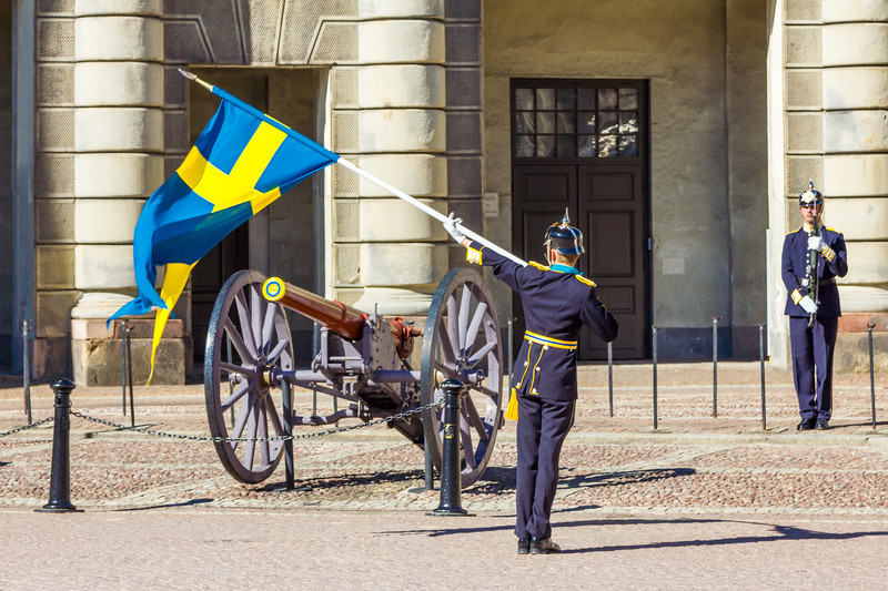 SWEDEN-STOCKHOLM-ROYAL PALACE-CHANGING OF THE GUARD