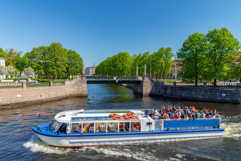 Russia-Saint Petersburg-Semimostie (Seven bridges)-Canal boat ride