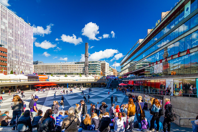 Sweden-Stockholm-Sergels torg