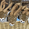 Stuffed reindeer for sale at the market
