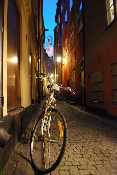bike at dusk