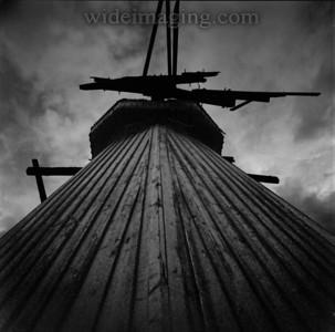 Ancient windmill Havstenssund, August 28, 2010.