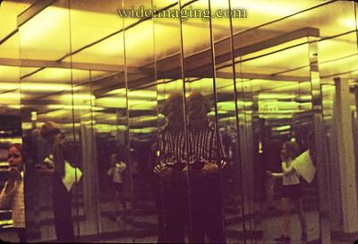 Liseberg Park fun house mirrors, July 1971, with my trusty Nikon FTN.