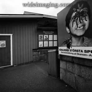 Skansen park, August 2010. On the bulletin board is a picture of the revered Swedish Tenor Jussi Bjorling, whose music was being featured.