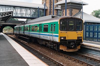 150 107 at Smethwick Galton Bridge on 22nd August 1996