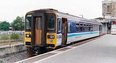 153 312 at Swindon on 11th September 1997
