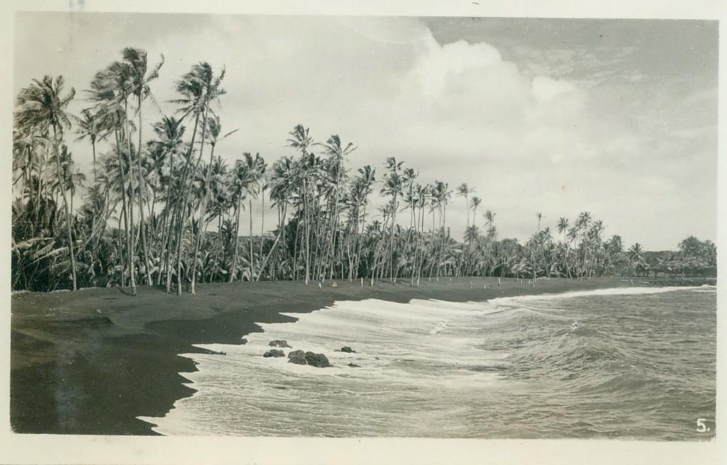 Black Sand Beach on island of Hawaii