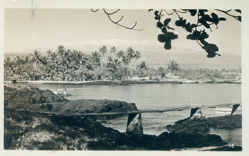 Hilo with Mauna Kea in the background