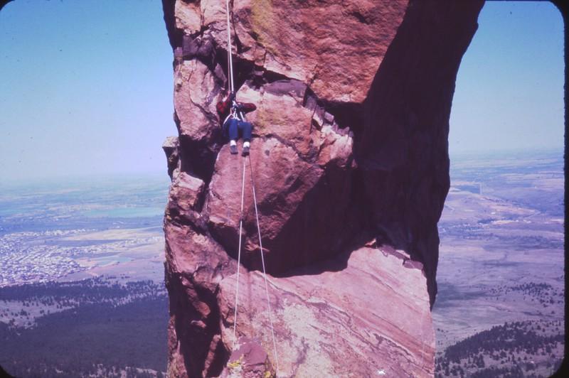 Hanging Out Over Boulder