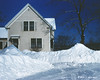 My grandparent's past home.  I was interested in the size of the snowbanks