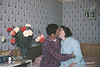 """1958 - My grandparents on their anniversary.  Their kids always wanted to see this picture when viewing the slides.  Every time it came up though, they would go """"ewwwwww."""""""