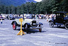 """1966 - An old car show at the Cannon Mtn Tramway.  Notice the """"Hoover for president"""" plate on the grill of the car"""