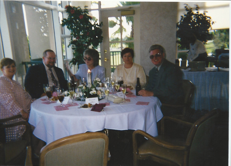 Mom, Buddy, Aunt Susan, Anita, and Dad