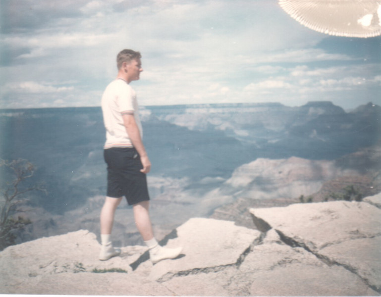Larry On Rim Of Grand Canyon