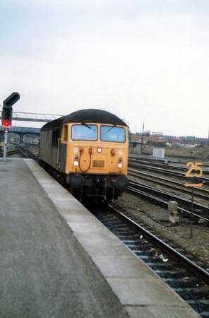 56016 runs light engine north through Doncaster.
