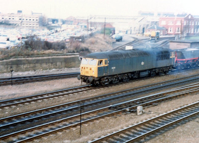 56016 passes south through Doncaster on HAAs on an MGR working.