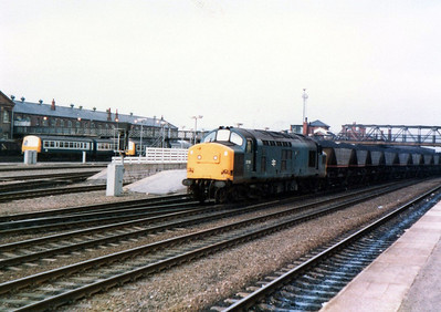 37161 heads south through Doncaster on HAAs on an MGR working.