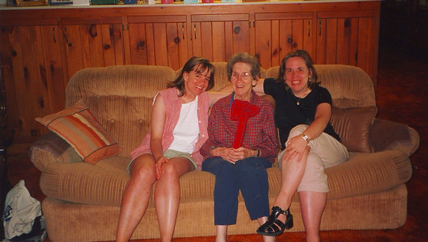 Me, my aunt Frankie (my nana's sister) and my sister Lisa. This was taken in South Carolina where Aunt Frankie lived.  Probably 1995?  My Aunt Frankie passed away in 2008.  This picture is precious!