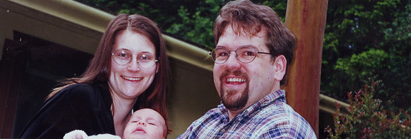 Joel Tracie and their first born, Sam!