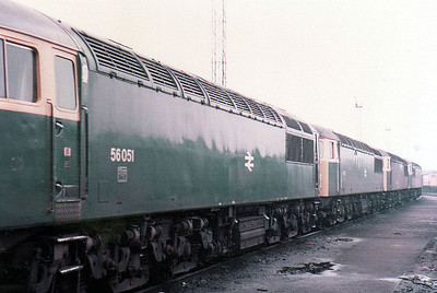 56051 Heads 3 class members, Toton (TO).