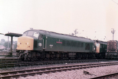 45040 'The Kings Shropshire Light Infantry'  stabled on Cricklewood TMD  27/08/84.