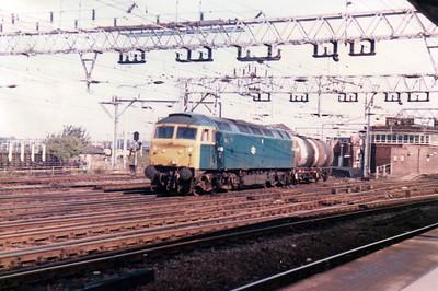 47093 on TTAs passing Stratford  21/09/84.