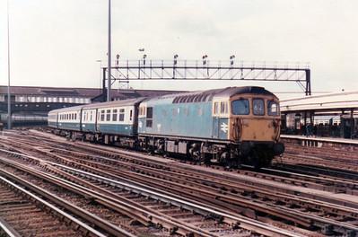 33117 shunting an ECS rake at Clapham Junction   21/09/84.