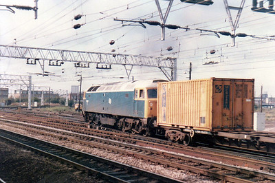 47115 passing through Stratford on a Freightliner  21/09/84.