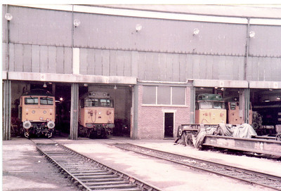 Old Oak Common Factory view   27/08/84.