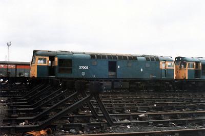 Withdrawn 27002 Millerhill Depot scrap line.