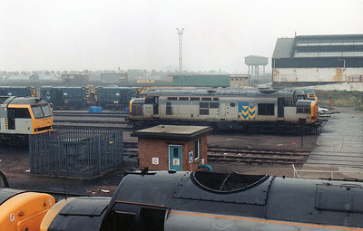37201 sits outside the main workshop at Cardiff Canton TMD.