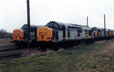 37887 and 37889 at Barry stabling point.