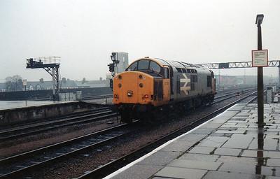 37701 Light Engine through Cardiff Central.