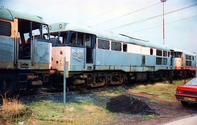 31219 Toton New Yard scrap line.