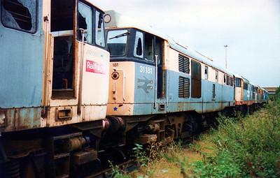 31181 Toton New Yard scrap line.