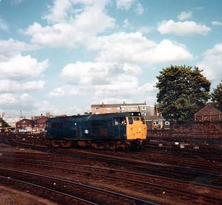 An UID Class 31 runs light engine south to York yard.