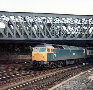 47411 heads into York on a passenger train.